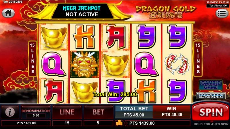 Dragon Gold :: Three of a kind
