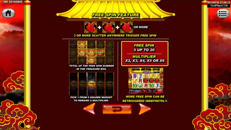 Dragon Gold :: Free Spins Rules
