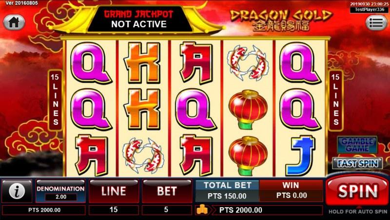 Dragon Gold :: Main Game Board