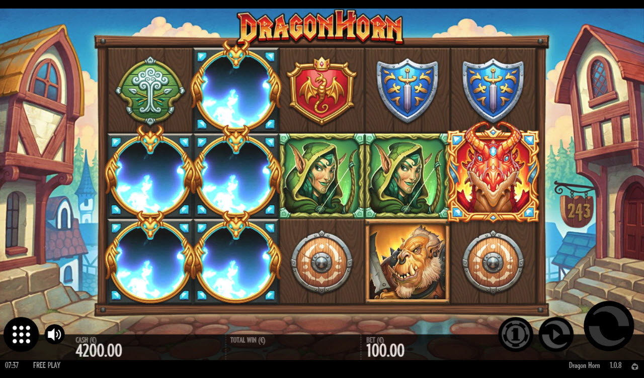Play slots at Boo Casino: Boo Casino featuring the Video Slots Dragon Horn with a maximum payout of $200,000