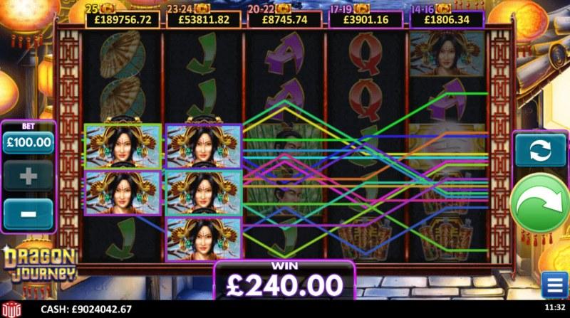 Dragon Journey :: Multiple winning paylines
