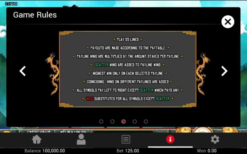 Dragon King :: General Game Rules