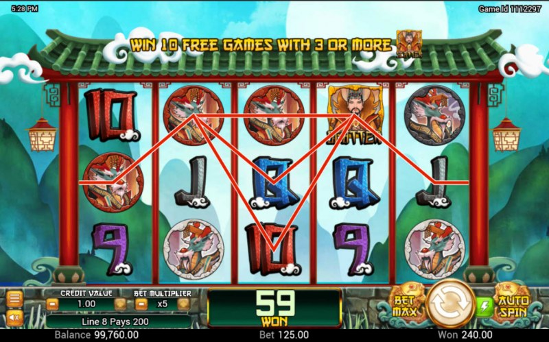 Dragon King :: Multiple winning paylines