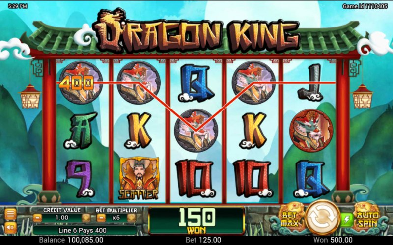 Dragon King :: A four of a kind win