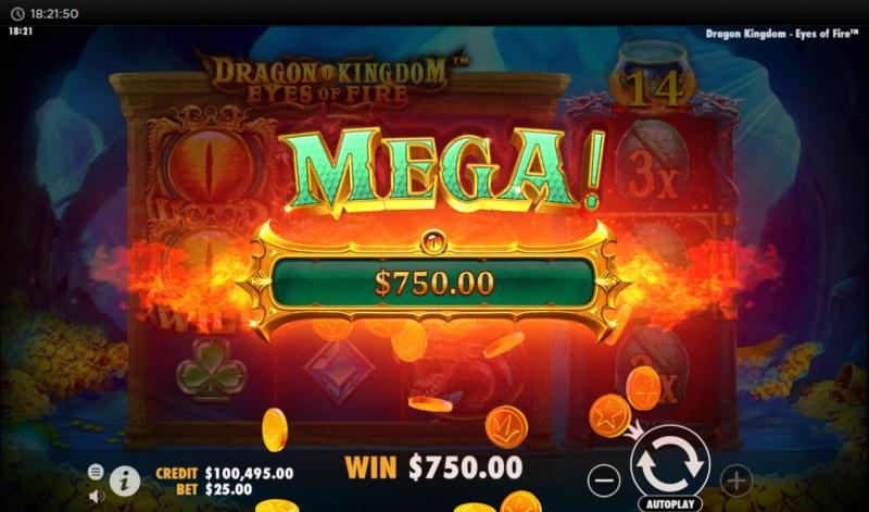 Dragon Kingdom Eyes of Fire :: Mega Win