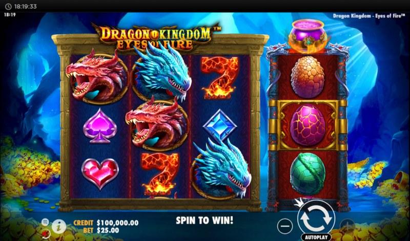 Dragon Kingdom Eyes of Fire :: Main Game Board