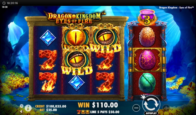 Dragon Kingdom Eyes of Fire :: Multiple winning combinations
