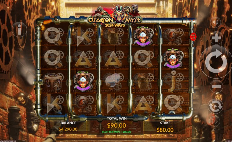 Dragon Myst :: Scatter symbols triggers the free spins feature