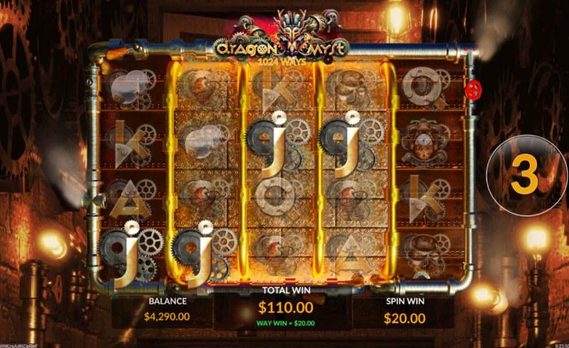 Dragon Myst :: Free Spins Game Board
