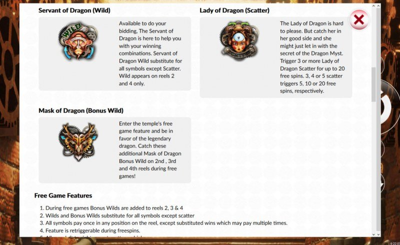 Dragon Myst :: Wild and Scatter Rules