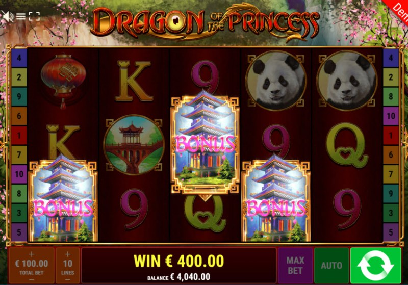 Dragon of the Princess :: Scatter symbols triggers the free spins feature