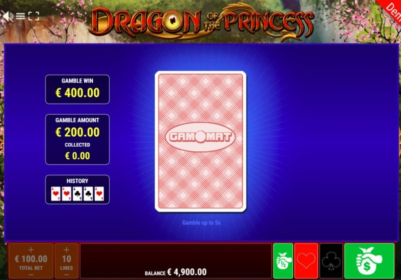 Dragon of the Princess :: Black or Red Gamble Feature