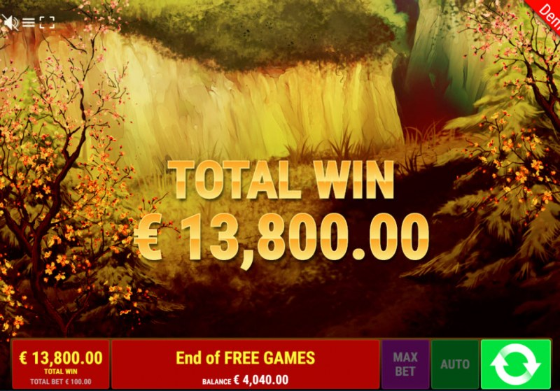 Dragon of the Princess :: Total free spins payout