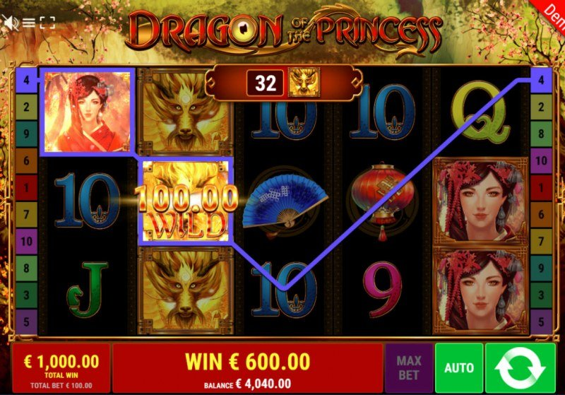 Dragon of the Princess :: Free Spins Game Board
