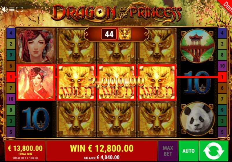 Dragon of the Princess :: Multiple winning combinations leads to a big win