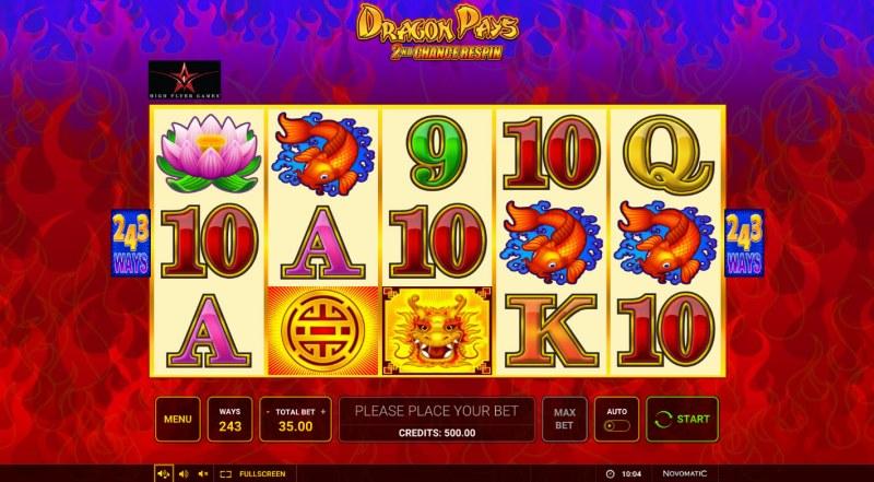 Dragon Pays :: Base Game Screen