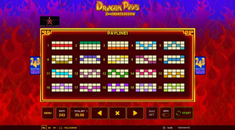 Dragon Pays :: Paylines 1-20