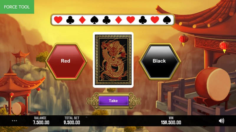 Dragon Rising :: Black or Red Gamble Feature
