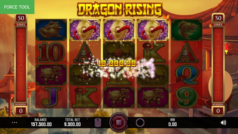 Dragon Rising :: Scatter symbols triggers the free spins feature