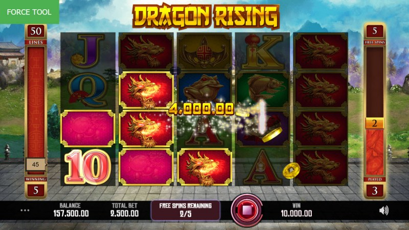 Dragon Rising :: Free Spins Game Board