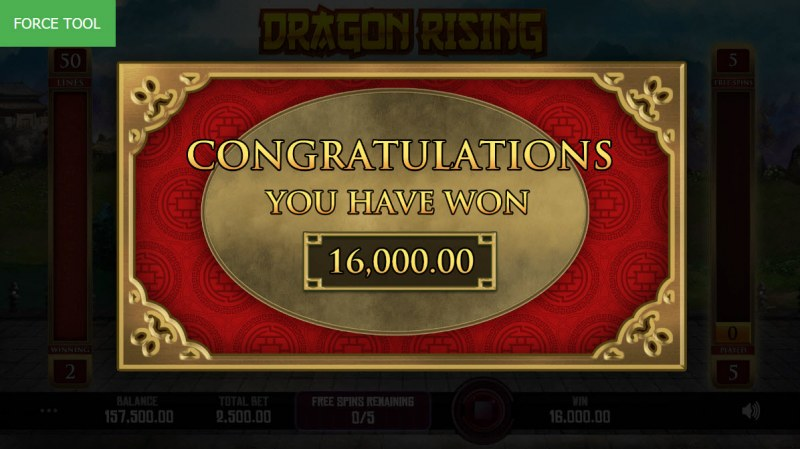 Dragon Rising :: Total free spins payout