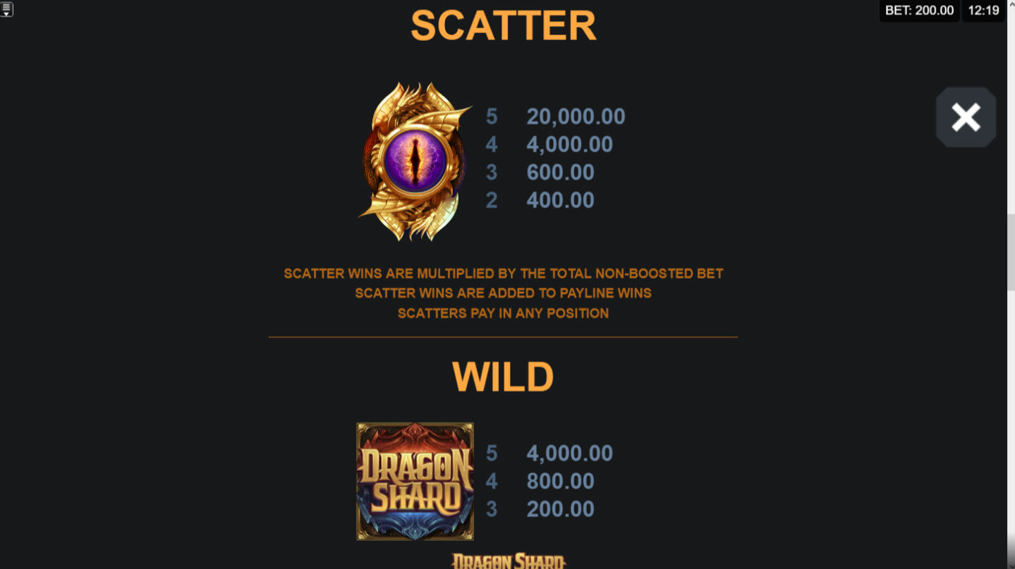 Play slots at Grand Mondial: Grand Mondial featuring the Video Slots Dragon Shard with a maximum payout of $160,000