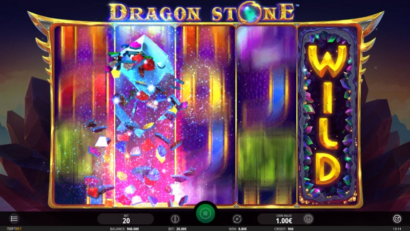 Dragon Stone :: Wild feature randomly activates during any spin