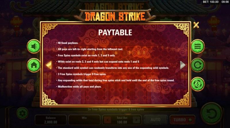 Dragon Strike :: General Game Rules