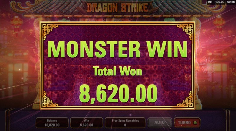 Dragon Strike :: Total free spins payout