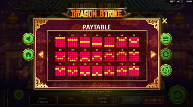Dragon Strike :: Paylines 1-21