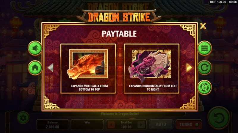 Dragon Strike :: Bonus, Jackpot, Scatter and Wild Rules