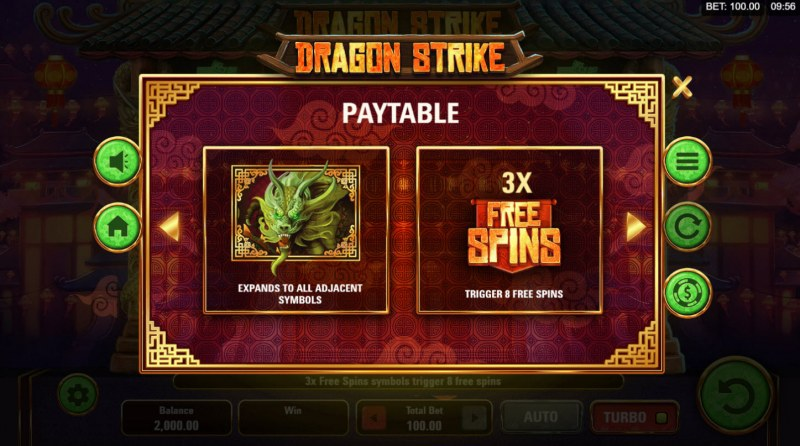 Dragon Strike :: Wild and Scatter Rules