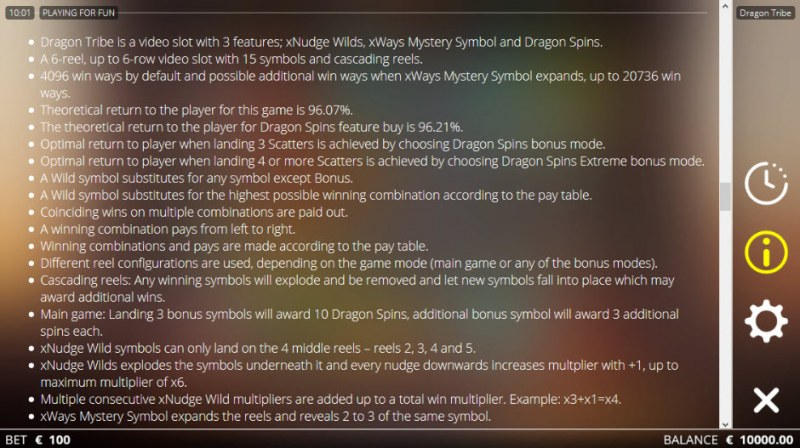 Dragon tribe :: General Game Rules