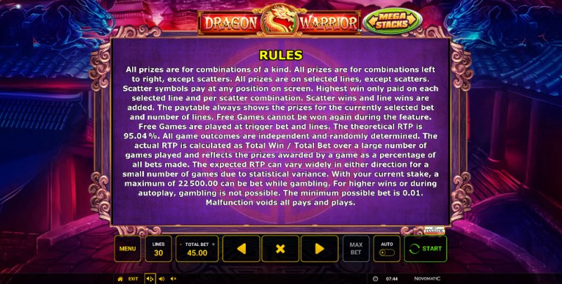 Dragon Warrior :: General Game Rules