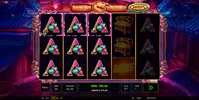 Dragon Warrior :: Multiple winning paylines