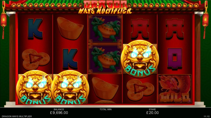 Dragon Ways Multiplier :: Scatter symbols triggers the free spins bonus feature