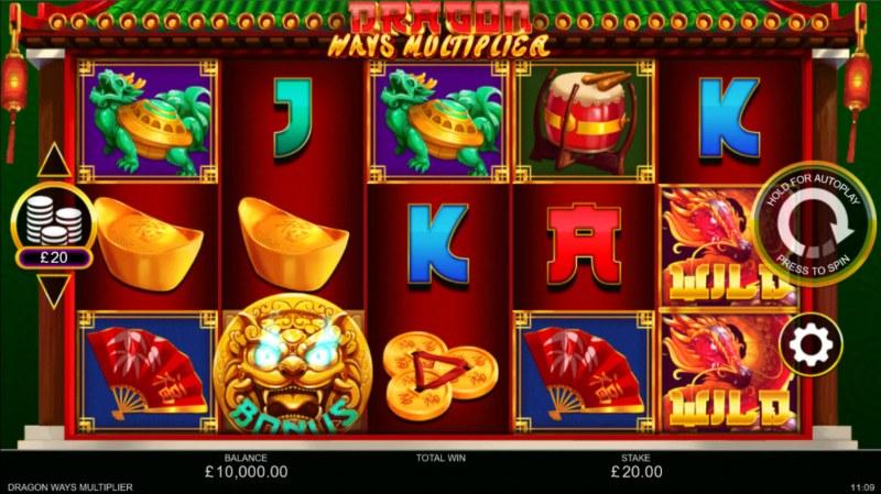 Dragon Ways Multiplier :: Base Game Screen
