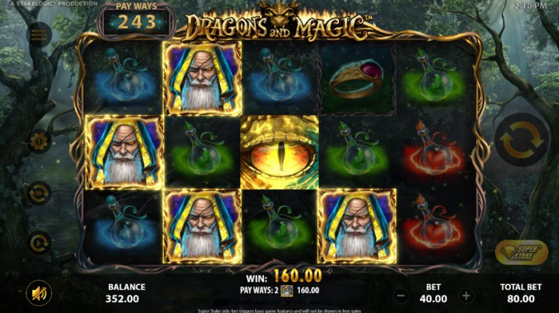Dragons and Magic :: Four of a kind Win