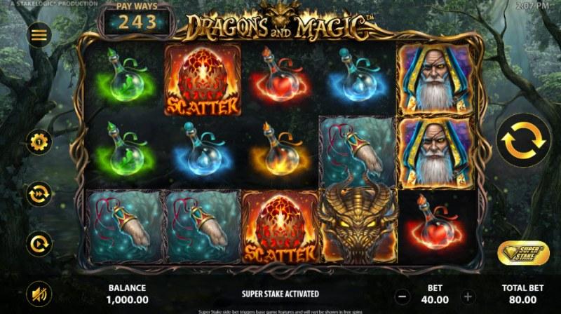 Dragons and Magic :: Main Game Board