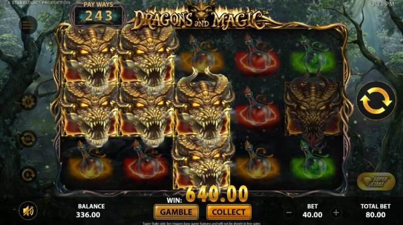 Dragons and Magic :: Multiple winning paylines