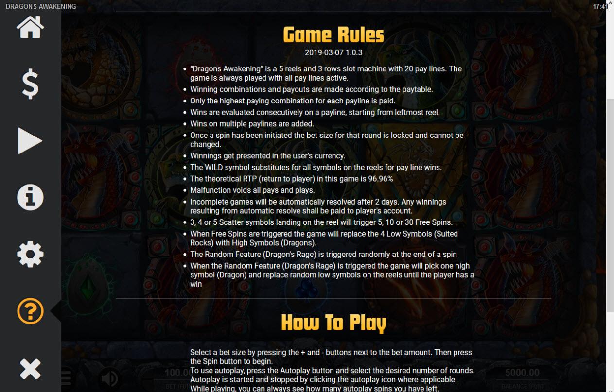 Dragons Awakening :: General Game Rules