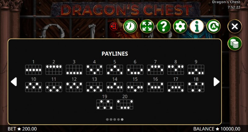 Dragon's Chest :: Paylines 1-20