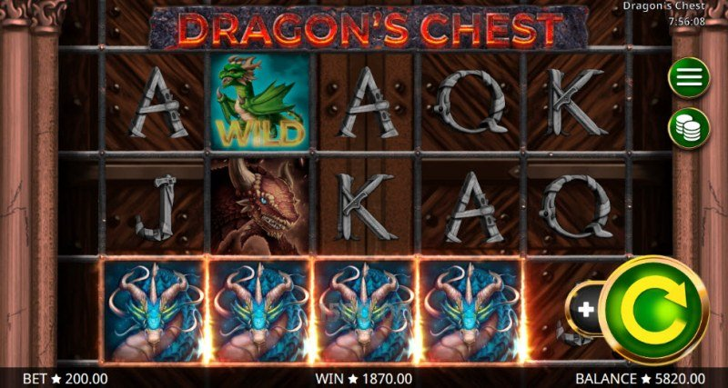 Dragon's Chest :: A four of a kind Win