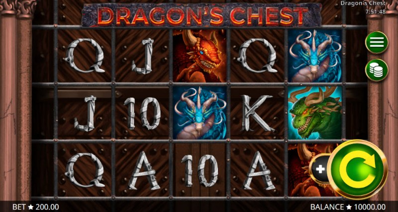 Play slots at Wild Jackpots: Wild Jackpots featuring the Video Slots Dragon's Chest with a maximum payout of $400,000