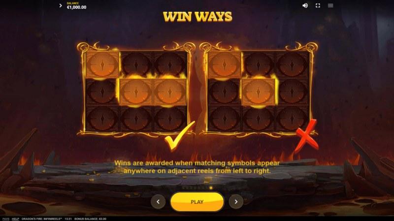 Dragon's Fire Infinireels :: Win Ways