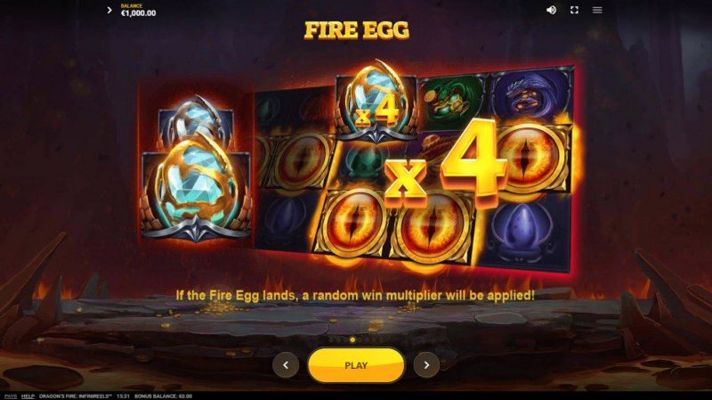 Dragon's Fire Infinireels :: Fire Egg