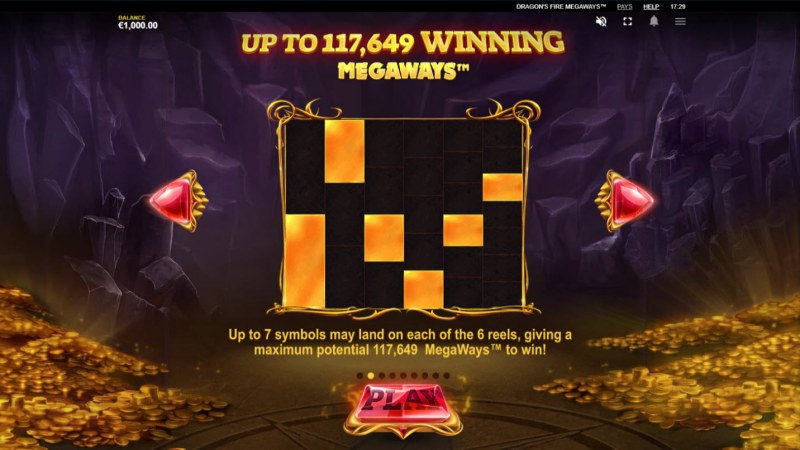 Dragon's Fire Megaways :: Up to 117649 ways to win