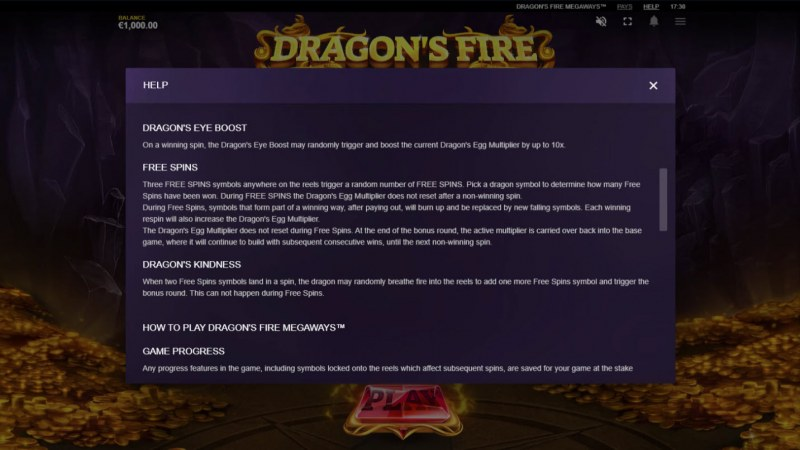Dragon's Fire Megaways :: Feature Rules