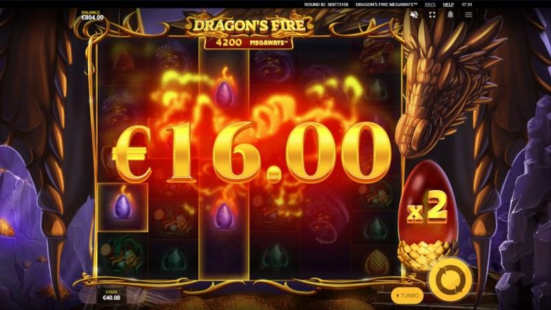 Dragon's Fire Megaways :: X2 multiplier awarded