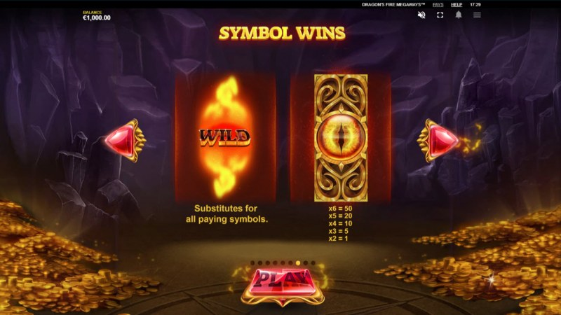 Dragon's Fire Megaways :: Paytable - High Value Symbols